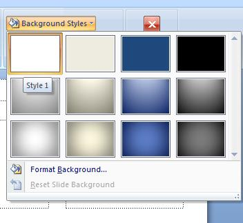 PowerPoint 2007 - Handout Master - Background Styles.jpg image from PowerPoint Handouts - making and printing at Office-Watch.com