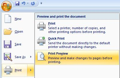PowerPoint 2007 - Print - Print Preview.jpg image from PowerPoint Handouts - making and printing at Office-Watch.com