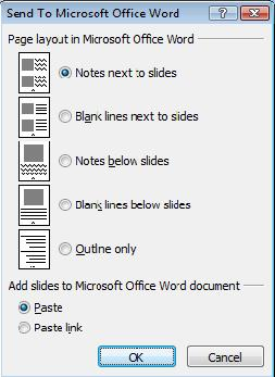 PowerPoint 2007 - Send to Word .jpg image from PowerPoint Handouts - making and printing at Office-Watch.com