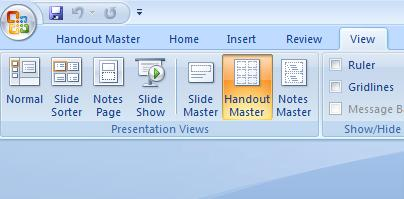 PowerPoint Handout Master - View.jpg image from PowerPoint Handouts - making and printing at Office-Watch.com