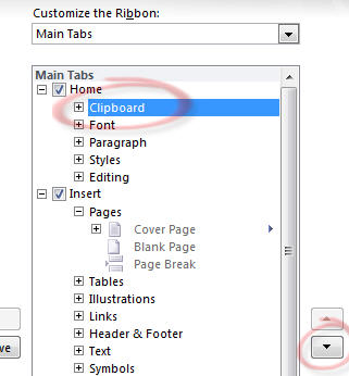968 Office 2010   moving Clipboard group on ribbon - Ribbon customization in Office 2010
