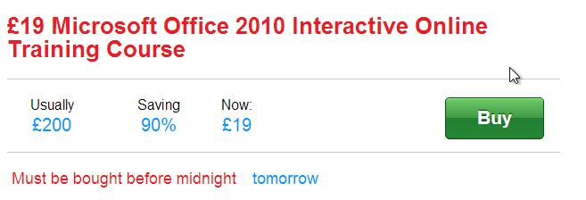 19%20quid%20offer%20June%202013 - 19 quid for Office 2010 training?