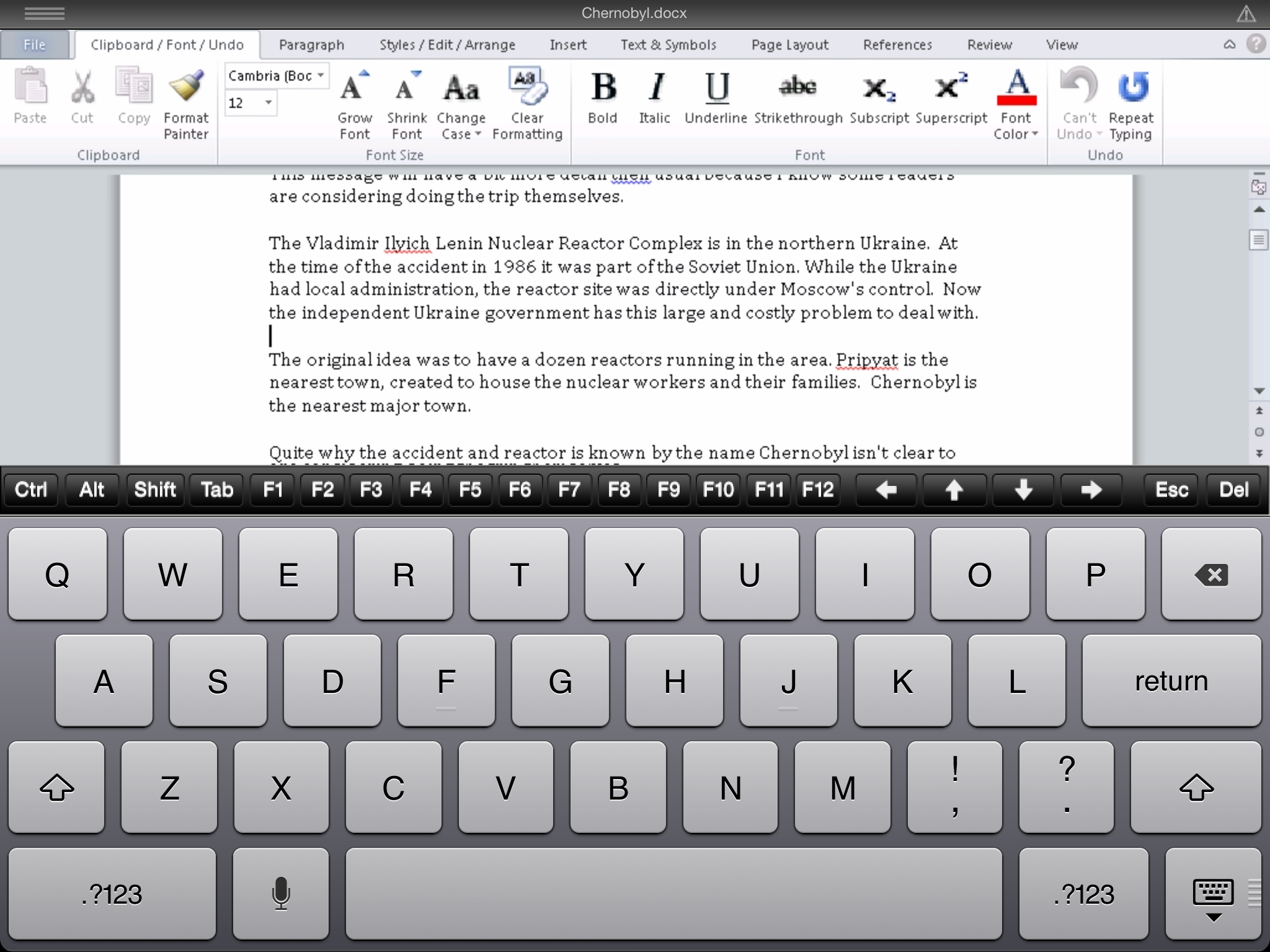 CloudOn%20with%20keyboard - CloudOn - office documents on your iPad