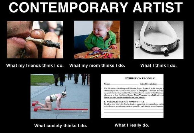 Contemporary Artist - Garnet Hertz image from What they think of me / What I really do - in PowerPoint at Office-Watch.com