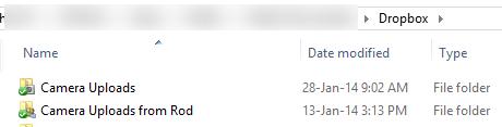 Dropbox Camera Upload folders in Windows image from Dropbox Camera Upload at Office-Watch.com