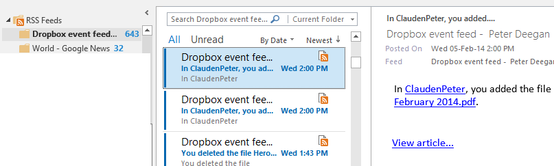 http://img.office-watch.com/ow/Dropbox%20RSS%20Rule%202.png image from Dropbox Alerts in Outlook at Office-Watch.com