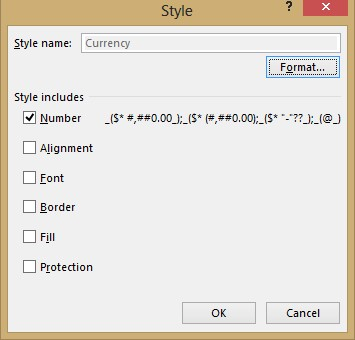 Excel style dialog image from Styles in Excel at Office-Watch.com