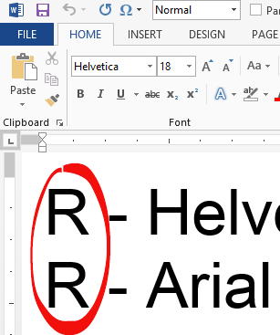 http://img.office-watch.com/ow/Font%20substitution%202.png image from Windows substituting Arial font for Helvetica at Office-Watch.com
