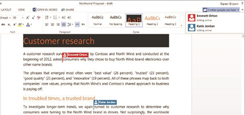 OWA collaboration image from Office Web Apps get collaborative at Office-Watch.com