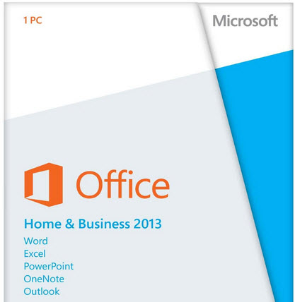Office 2013 home & Business Box shot image from Are you sure about non-transferable? at Office-Watch.com