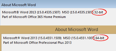 Office%202013%20bitness - Office 2013 Service Pack 1 overview