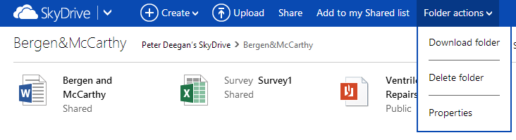 OneDrive image from Sending files using Skydrive / OneDrive at Office-Watch.com