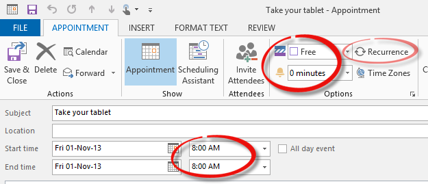 Outlook%20Private%202 - Hiding Private appointments from Calendar views