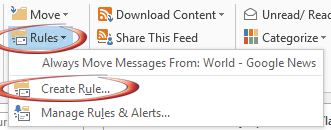 RSS%20Rule%201 - Get alerts from Outlook RSS feeds