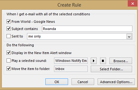 RSS%20Rule%202 - Get alerts from Outlook RSS feeds