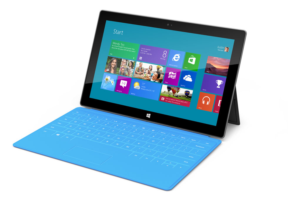Surface%20with%20blue%20keyboard - A new way to work with Microsoft Office