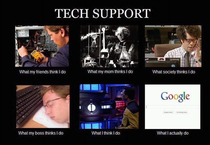 Tech Support image from What they think of me / What I really do - in PowerPoint at Office-Watch.com