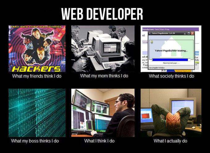 Web Developer image from What they think of me / What I really do - in PowerPoint at Office-Watch.com