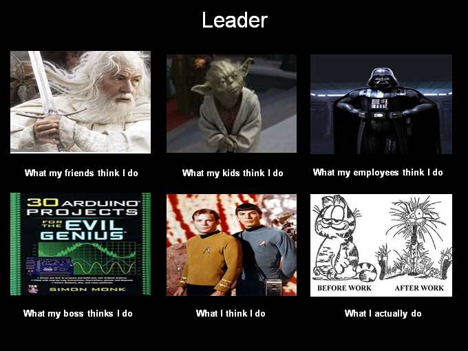 What People think I do - Leader image from More What People think I do ... from PowerPoint at Office-Watch.com