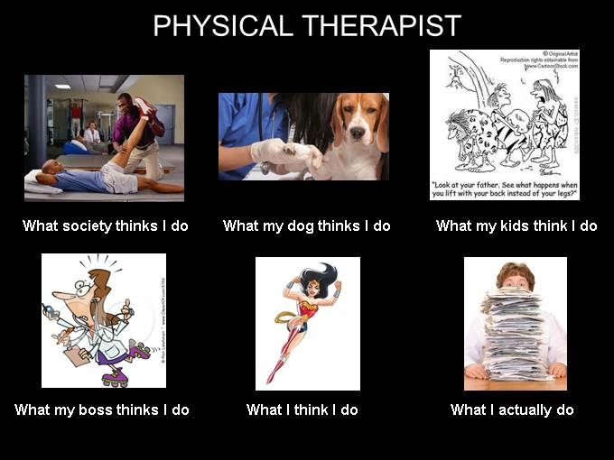 What People think I do - Physical Therapist image from What Office Watch readers think they do at Office-Watch.com