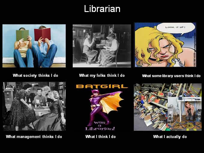 What People Think I Do - What I Really Do - Librarian image from More What People think I do ... from PowerPoint at Office-Watch.com