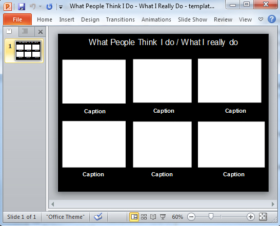 What People Think I do - in PowerPoint image from What they think of me / What I really do - in PowerPoint at Office-Watch.com
