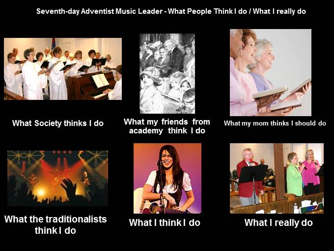 What People think I do - Church Music Leader image from What Office Watch readers think they do at Office-Watch.com