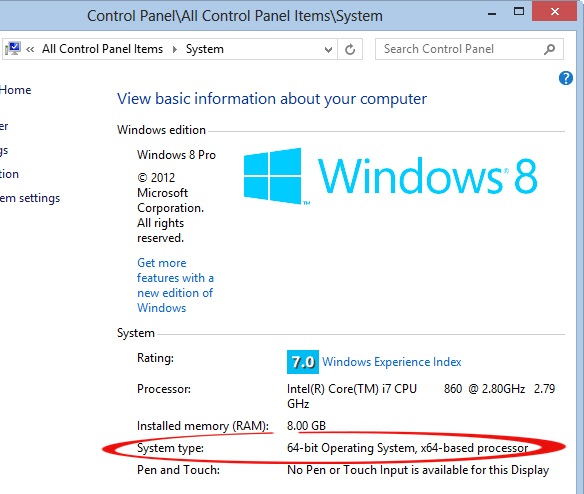 Windows system type 32 or 64 bit image from Searching PDF