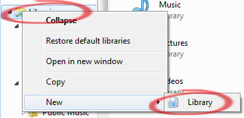 Windows%207%20 %20New%20library - Libraries by topic