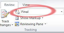 Word hide comments with Show Final image from One person Comments in Word at Office-Watch.com