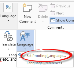 Word - set language image from Language and Dictionaries in MS Word at Office-Watch.com
