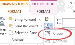 Word shape layout - Group image from Simple image overlays in Word at Office-Watch.com