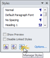 Word%20style%20%20Manage%20Styles - Changing the look of Comment balloons in Word