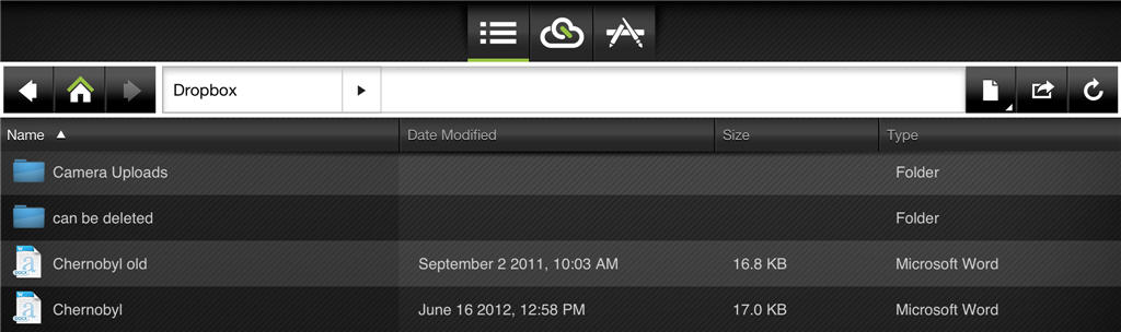 cloudon%20 %20file%20view - CloudOn - office documents on your iPad