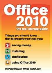 Office 2010: the real startup guide - in US dollars