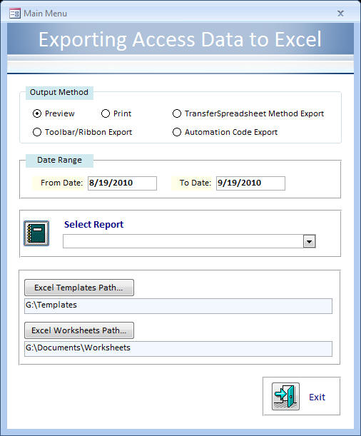 AW%201213 C - Exporting Access Data to Excel, Part 1
