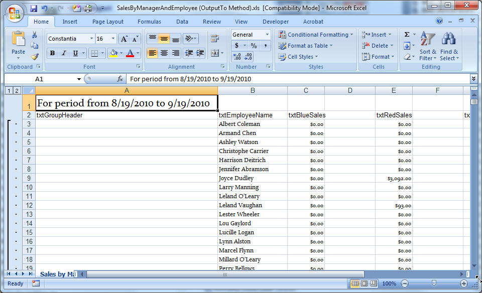 AW%201213 E - Exporting Access Data to Excel, Part 1